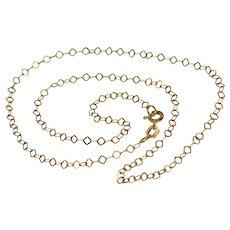 Vintage Italian Fancy 16.5 Inch 18K Chain Necklace