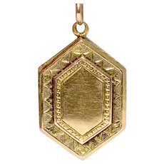 Antique Victorian 15K Gold Double Sided Locket