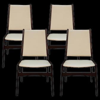 Anderstrup Mobelfabrik Uldum Rosewood Mid Century Danish Dining Chairs