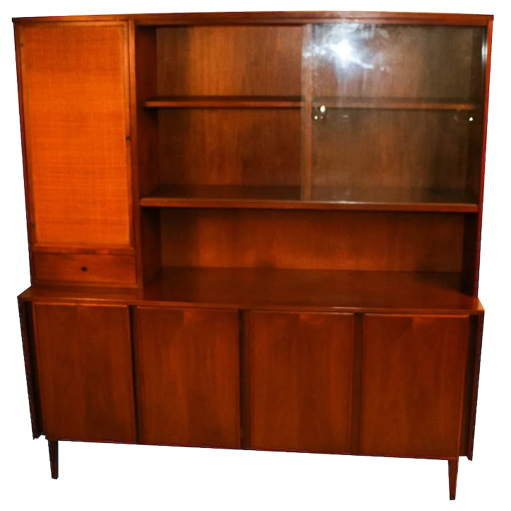American of Martinsville Mid Century China Cabinet Hutch