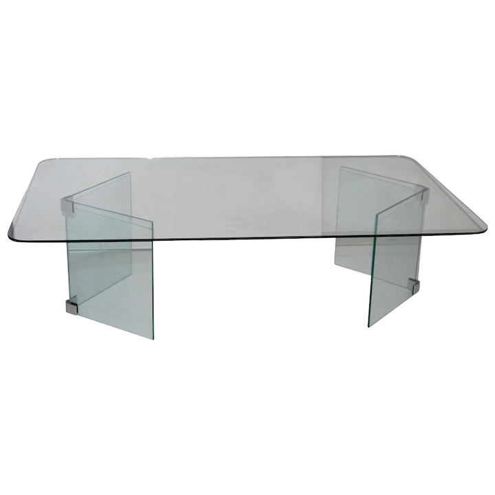 Pleasing Mid Century Modern Glass Coffee Table Hollywood Regency Pace Home Interior And Landscaping Oversignezvosmurscom