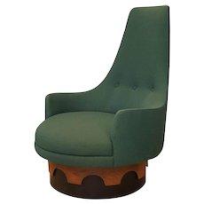 Craft Associates 1960s Adrian Pearsall High Back Swivel Chair
