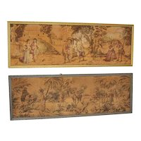 A fine pair of Continental machine woven tapestries