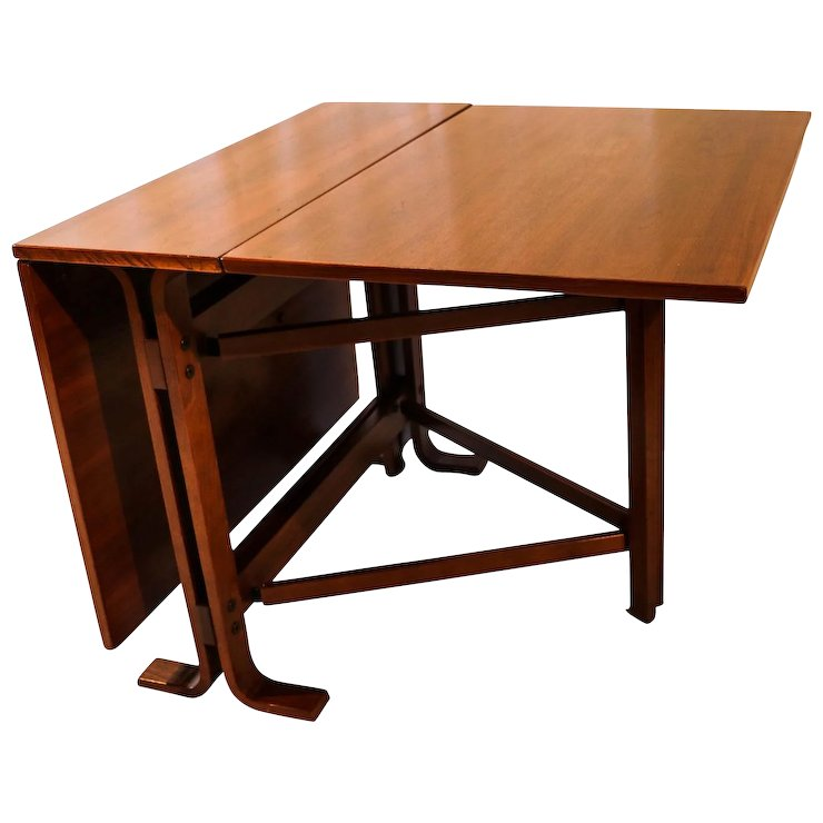 Danish Drop Leaf Teak Dining Table Bruno Mathsson Style Mary Kays - Teak dining table with leaf