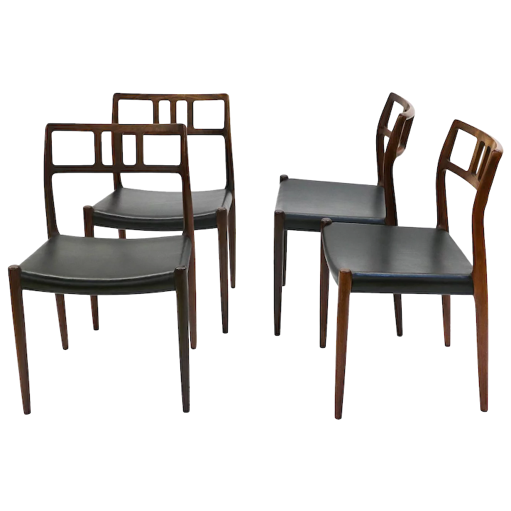 Danish Modern Rosewood Niels Moller 79 Dining Chairs