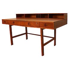 Peter Lovig Nielsen Danish Modern Teak Flip Top Desk