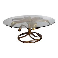 Mid Century Arthur Court Gilded Lily Coffee Table