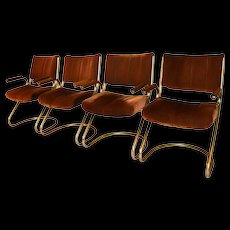 Mid Century Brass Cantilever Chairs Douglas Furniture