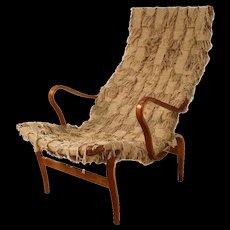 Mid Century Danish Bruno Mathsson Pernilla Lounge Chair Sweden 1961