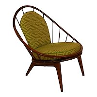 Mid Century Danish Hoop Style Chair with Spindle Back ib Kofod-Larsen for Selig