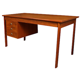 Mid Century Danish Teak Peter Lovig Nielsen Jens Quistgaard Slide Top Desk