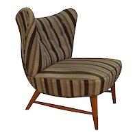 Mid Century Elias Svedberg Knoll 201 Wingback Armless Chair