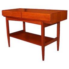 Mid Century ib Kofod Larsen Teak Console Table For Faarup Mobelfabrik