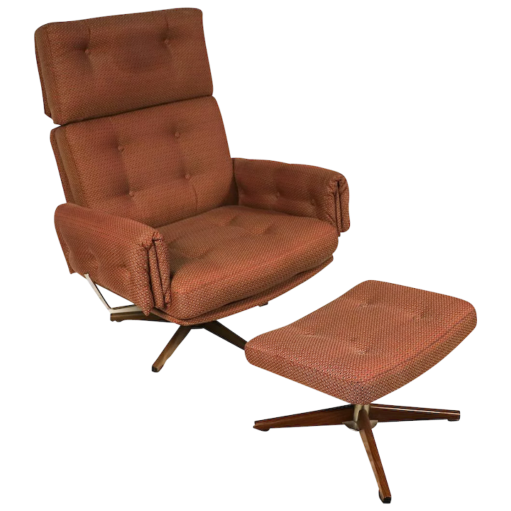 Cool Mid Century Lounge Chair And Ottoman Pabps2019 Chair Design Images Pabps2019Com