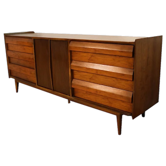Mid Century Lane First Edition Dresser Louvered Front Drawers