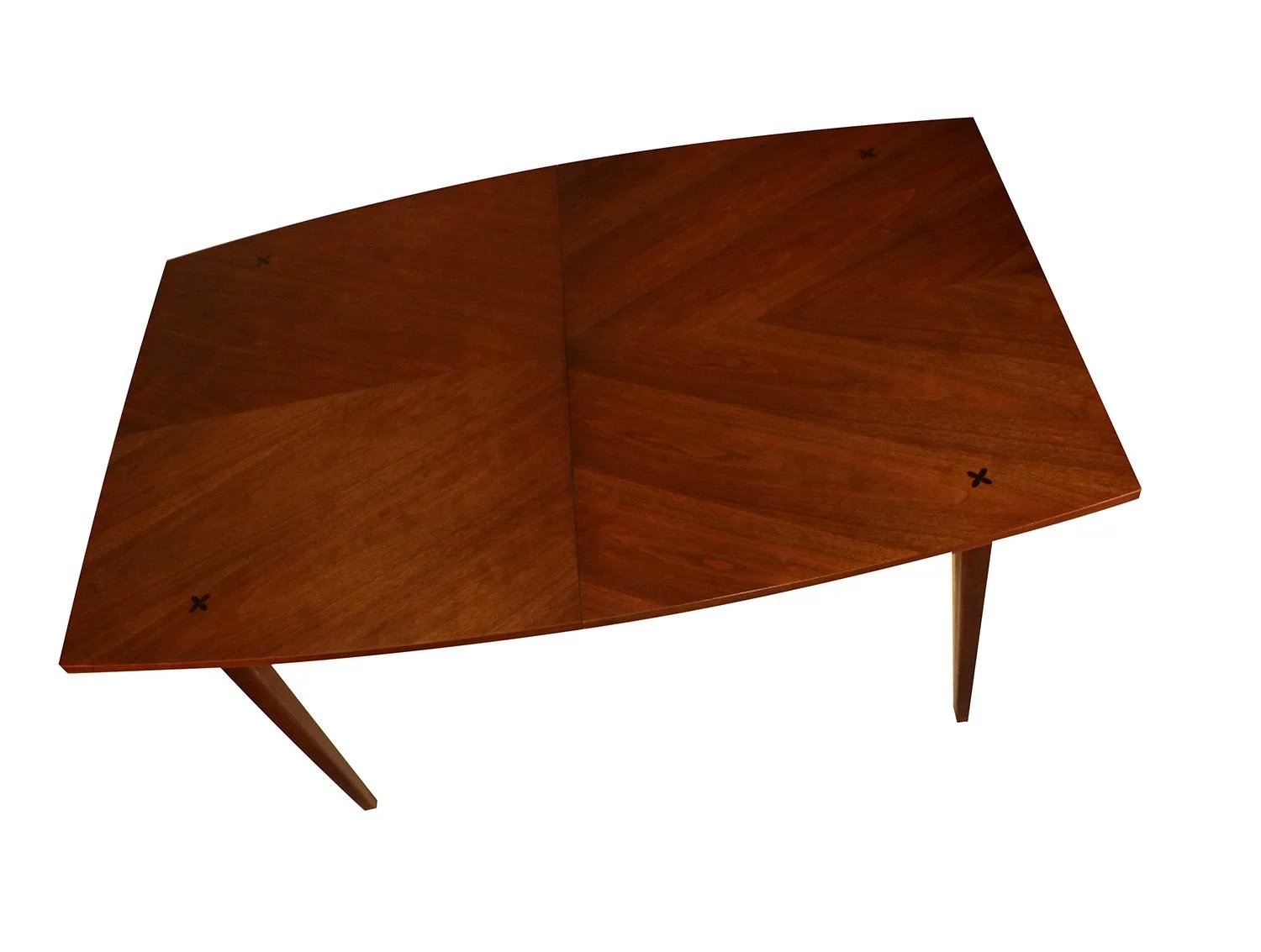 American Of Martinsville Walnut Dining Table To Expand
