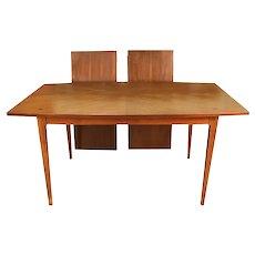 Mid Century Modern American of Martinsville Walnut Dining Table