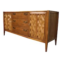 Mid Century Modern Broyhill Premier Diamond Head Credenza Dresser