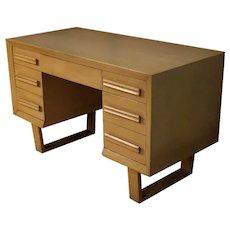 Mid Century Modern Double Pedestal Desk