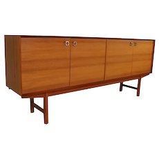 Mid Century Modern Long Teak Buffet Sideboard