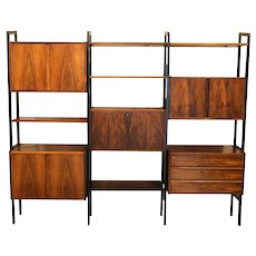 Mid Century Modern Room Divider Bookcase Hutch Desk