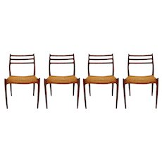 Mid Century Niels Otto Moller Model 78 Teak Dining Chairs