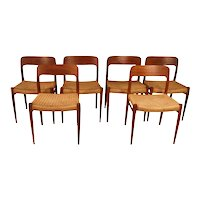 Mid Century Niels Otto Moller Model 75 Teak Dining Chairs