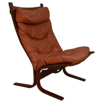 """Mid Century """"Siesta"""" Leather Lounge Chair by Ingmar Relling For Westnofa"""