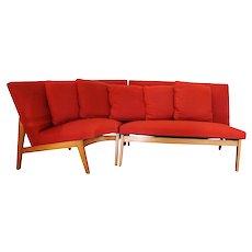 Mid Century Scandinavian Sectional Corner Sofa