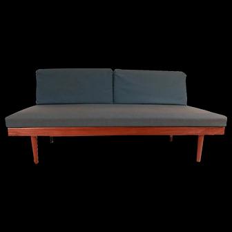Norwegian Modern Teak Daybed Sofa Pull Out Tables Edvard Kindt Larsen for Gustav Bahus
