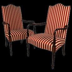 Pair Hickory Chair Mahogany Federal style Martha Washington chairs