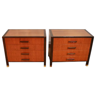 Pair Mid Century Harvey Probber Nightstands End Tables