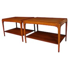 Pair Mid Century Lane Rhythm Side Tables