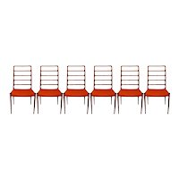Set of Six Danish Modern Niels Moller for J.L. Moller Dining Chairs Model 82