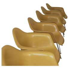 set of six Charles Eames for Herman Miller fiberglass chairs