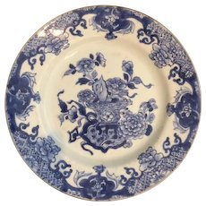 Antique Chinese Export Blue and White Plate, 18th Century, Excellent Condition!