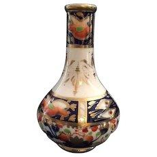 "Antique English Derby ""Sampson Hancock"" Imari Petite Porcelain Bud Vase, Circa 1862"