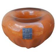 Dartington England Art Glass Paperweight Bowl