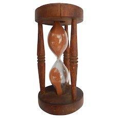 Vintage 3 Minute Turned Wood Egg Timer Treenware