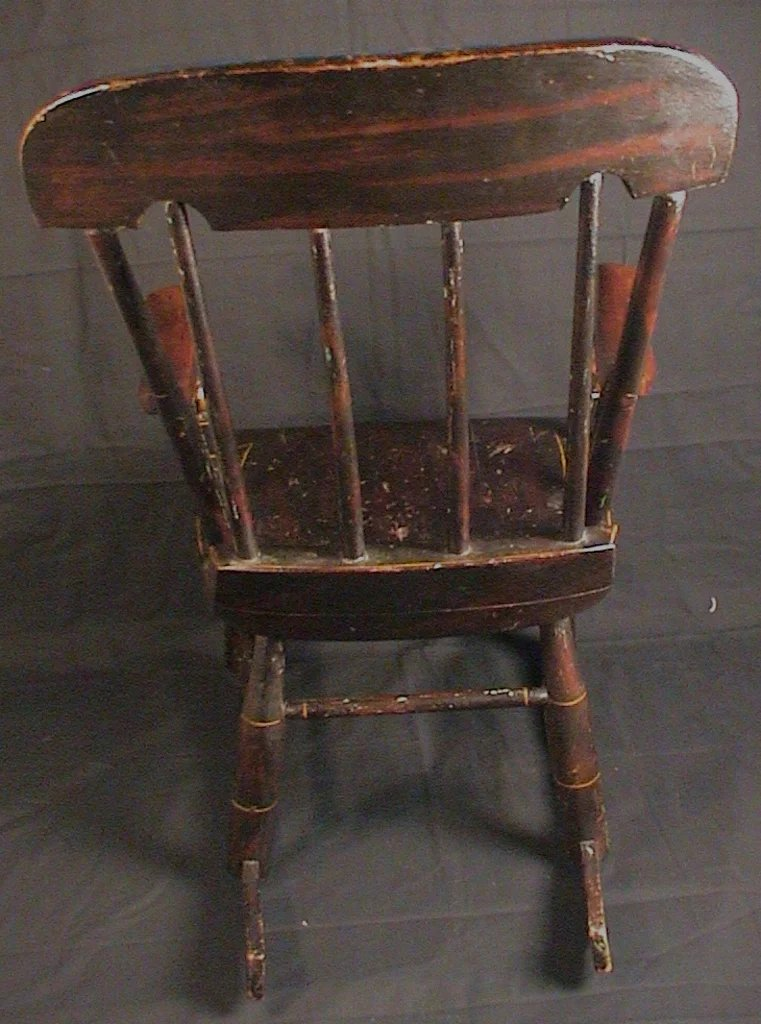 Antique Child S Rocking Chair Roses Amp Stenciled 19th C