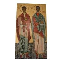 Vintage Hand Painted Icon Saints
