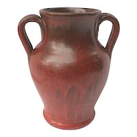 North Carolina Pottery Vase Red Chrome Glaze Some As Is
