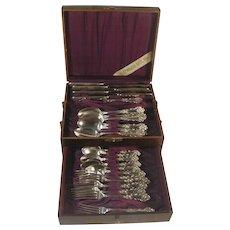 1847 Rogers Silver Plate CHARTER OAK Silverware Set for 6, 25 pcs Flatware