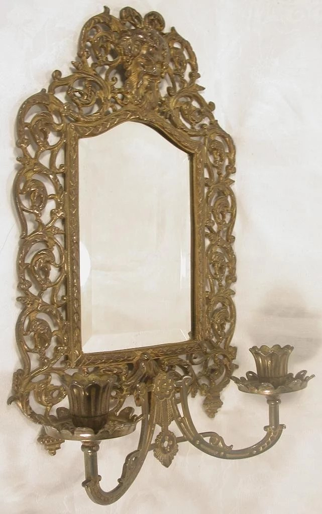 Ornate Bradley Amp Hubbard Candle Sconce Beveled Mirror