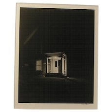 "Original Photograph Robert Pyle ""Porch Light, Maine""  Pencil Signed"