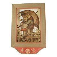 Anri Carved Wood Plaque with Thorens Music Box Lara's Theme