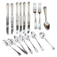 "25 pc Silver Plated Silverware Set - ""Courtney"" by Simeon L & George W Rogers Co A1+ Oneida LTD"