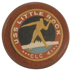 USS Little Rock CLG 4 Plaque Vintage Military