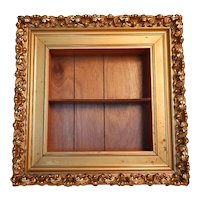 Gold Victorian Frame with Added Shadowbox Shelf
