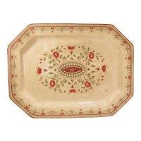 Large Victorian Transferware Platter Aesthetic Design Ridgway